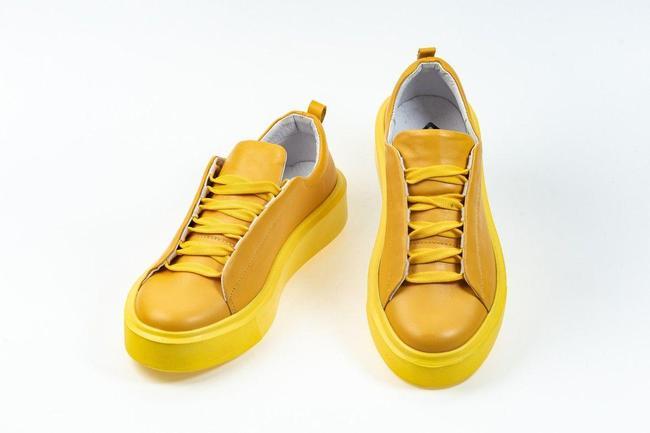 Кеды женские желтые SAV 106-13