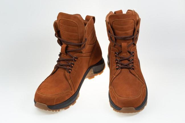 Ботинки зимние коричневые на шнурках SAV 145_2