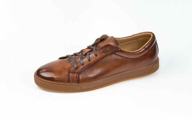 Мужские кеды коричневые SAV 154-6
