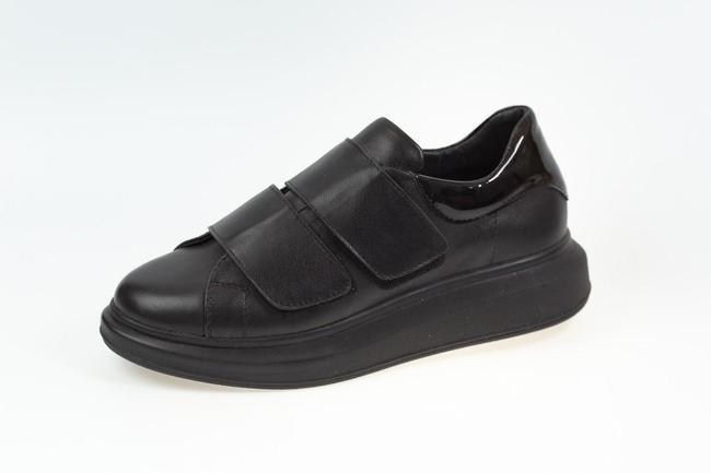 Кеды черные на липучках