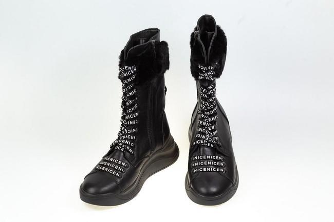Ботинки черные зимние SAV 2035_2