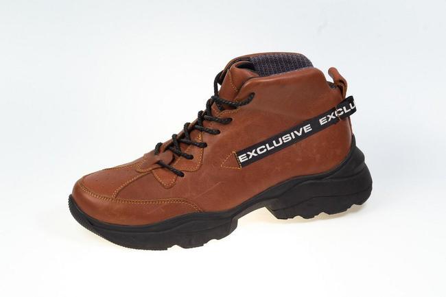 Ботинки-кроссовки коричневые на черной подошве SAV 2055_2