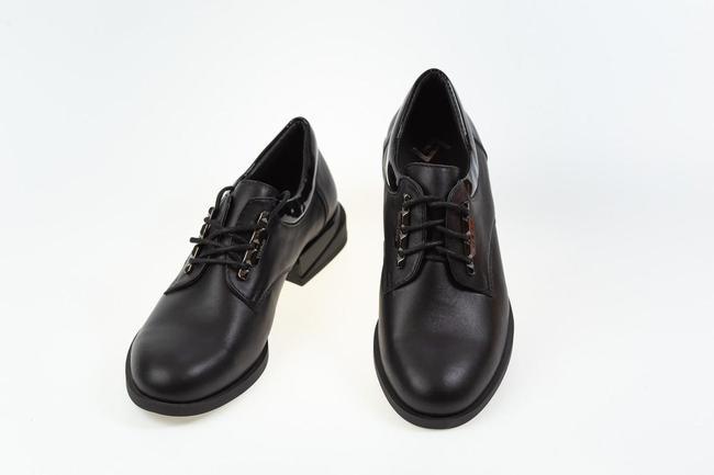 Туфли черные осенние SAV 2057_2