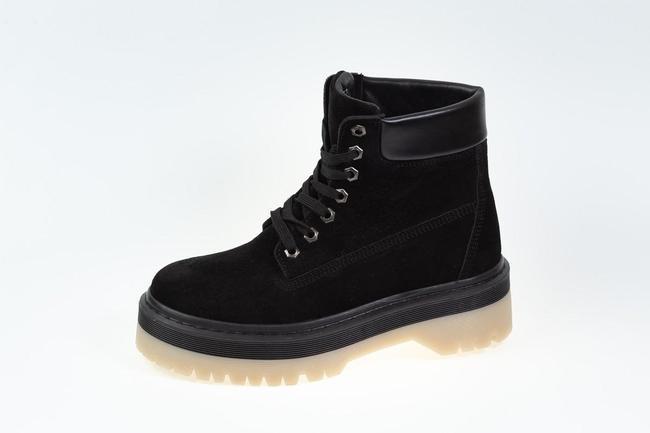 Ботинки женские черные замшевые SAV 205_3