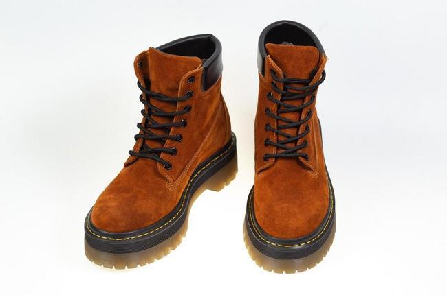 Ботинки женские рыжие замшевые SAV 205_5