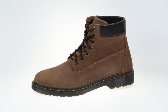 Ботинки коричневые зимние SAV 205_7