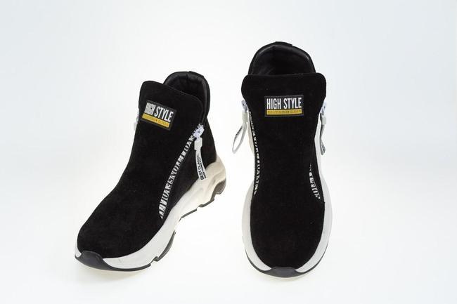 Ботинки замшевые черные SAV 2061_1