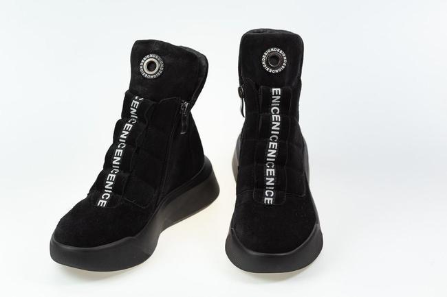 Ботинки  черные замшевые  SAV 2063_2