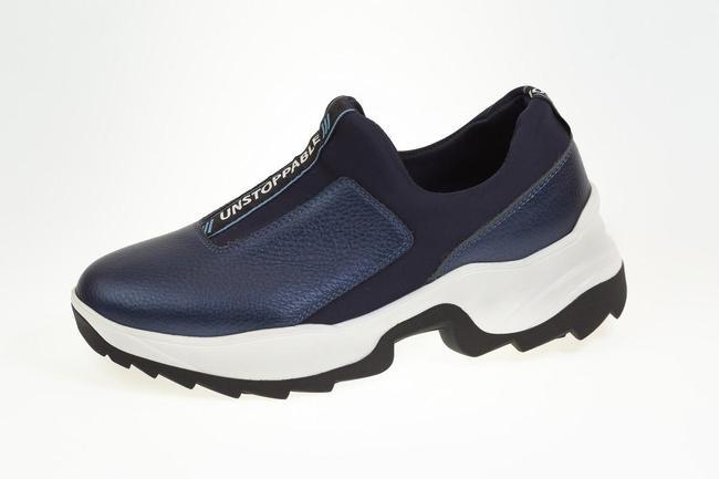 Кроссовки синие без шнурков SAV 2064_2