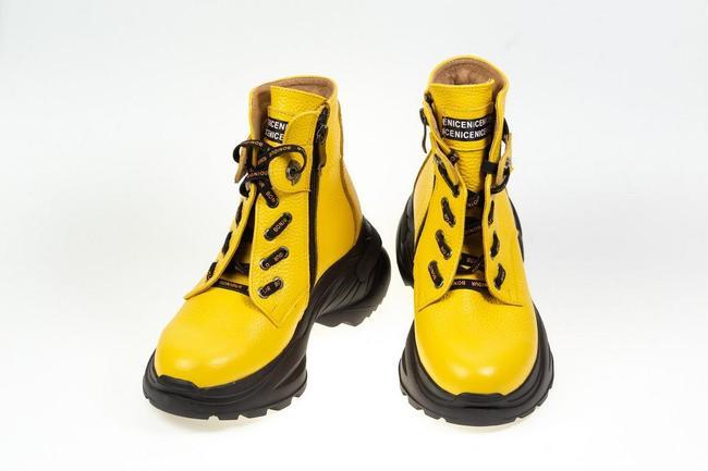 Ботинки-кроссовки желтые SAV 2067_5