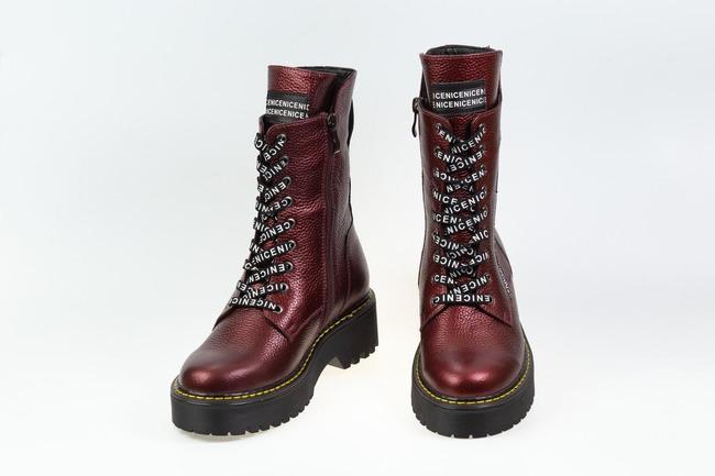 Ботинки-кроссовки  бордовые SAV 2075_7