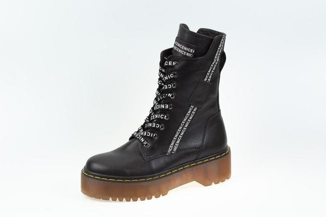 Ботинки-кроссовки черные SAV 2075_9