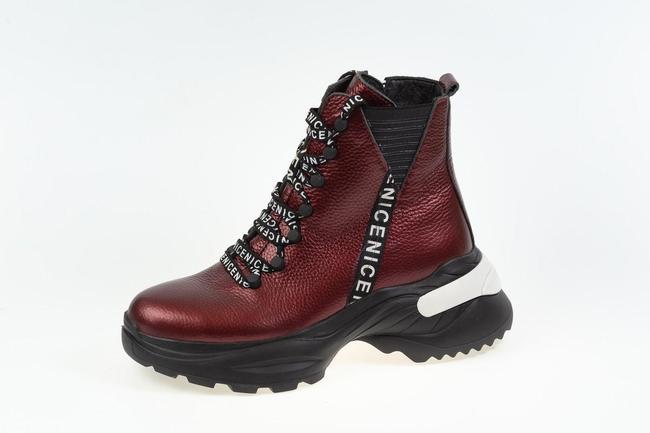 Ботинки бордовые SAV 2078_1