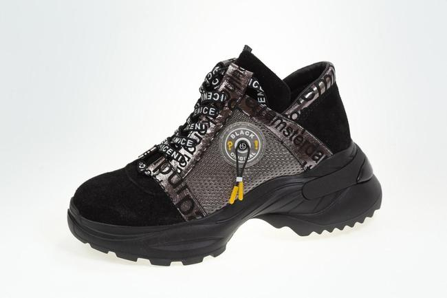 Кроссовки черные с серебром модель 2021 SAV 2079_1