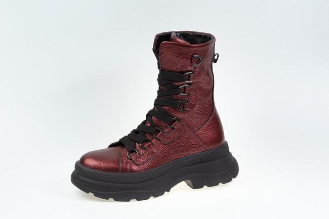 Ботинки бордовые  SAV 2080_3