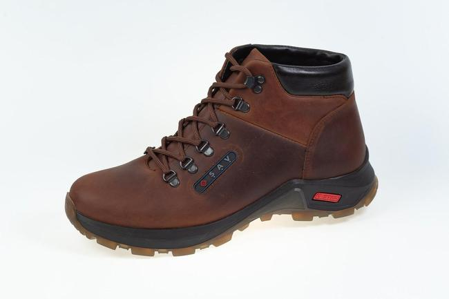 Ботинки коричневые зимние SAV 209_1