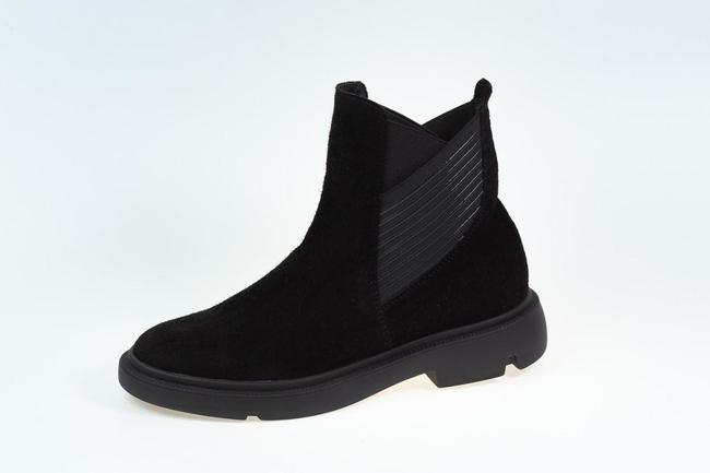 Ботинки черные  замшевые SAV 2101_1