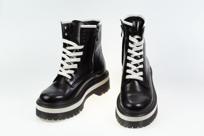Ботинки-кроссовки черно-белые  SAV 2103