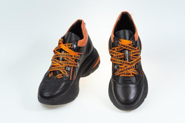 Кроссовки черно-оранжевые SAV 2105_2