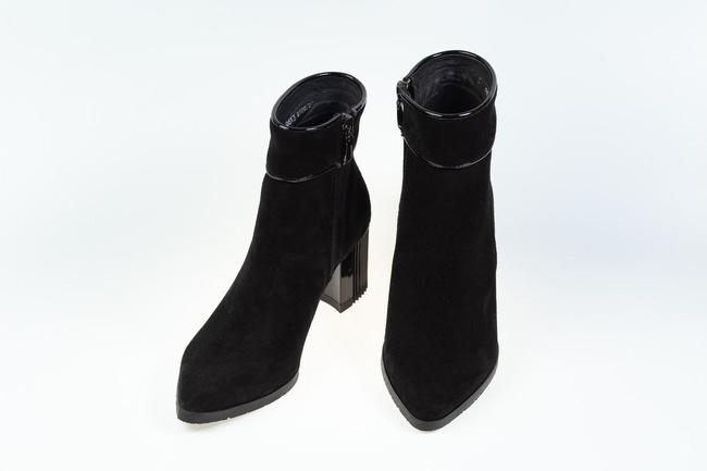 Полусапожки черные на каблуке SAV 2109_2