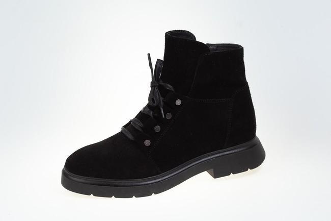 Ботинки черные  замшевые SAV 2124_2