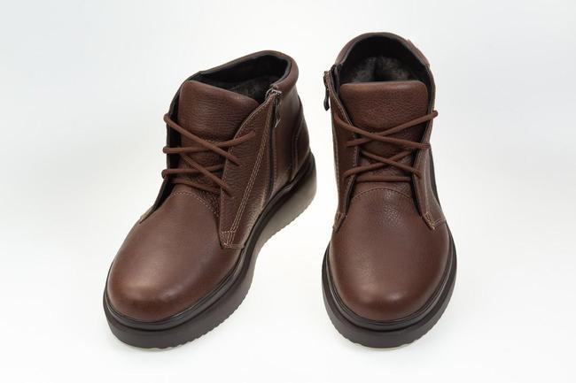 Ботинки коричневые зимние SAV 550_4_