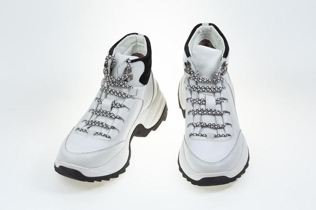 Ботинки-кроссовки белые  SAV 612_1