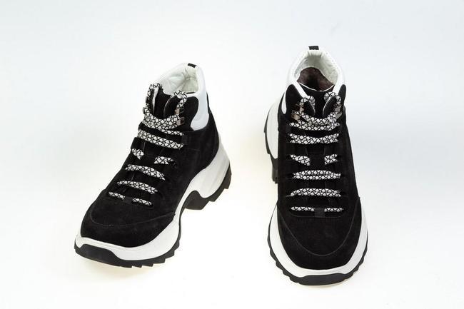 Ботинки-кроссовки  женские черные SAV 612_3