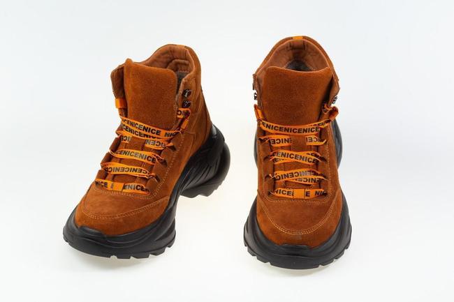 Ботинки зимнее рыжие  SAV 612_4