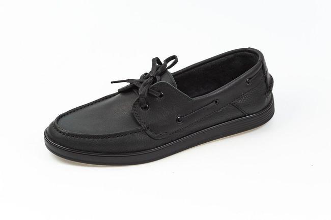 Топсайдеры мужские черные SAV 851-4